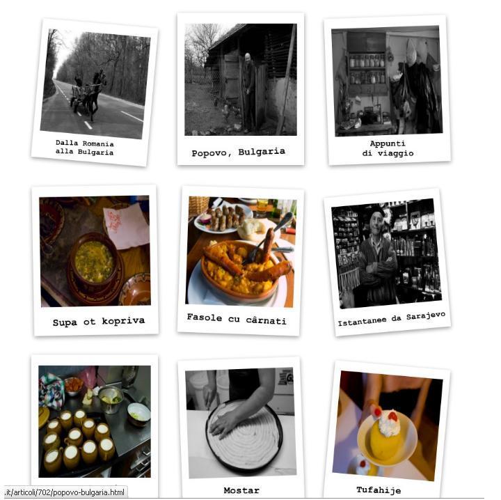 """Il blog """"La strada del cibo"""""""